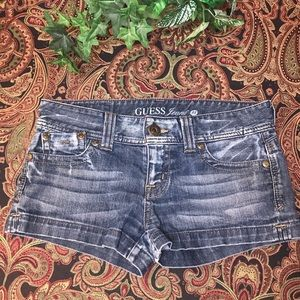 Guess Distressed Blue Jean Shorts